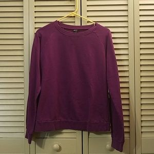 Crewneck purple zine sweater sweatshirt pullover